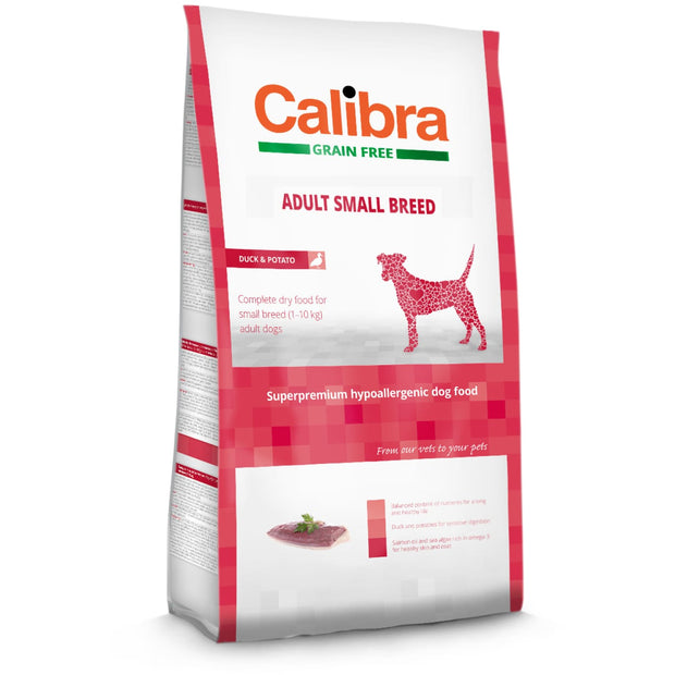 Calibra Grain-Free Adult Small Breed Duck - Dog Food