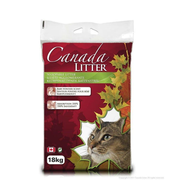 Canada Litter Clumping Cat Litter 18kg - Unscented - Litter