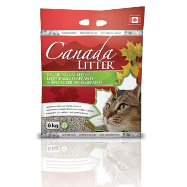 Canada Litter Clumping Cat Litter Lavender 6kg - Litter &