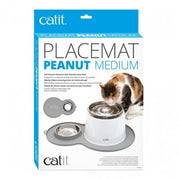 Catit Peanut Placemat - Grey - Cat Feeders & Bowls