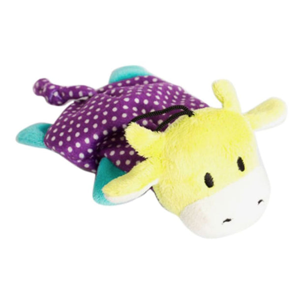 Chomper Bark A Boo Mini Squeak Flatty - Dog Toys