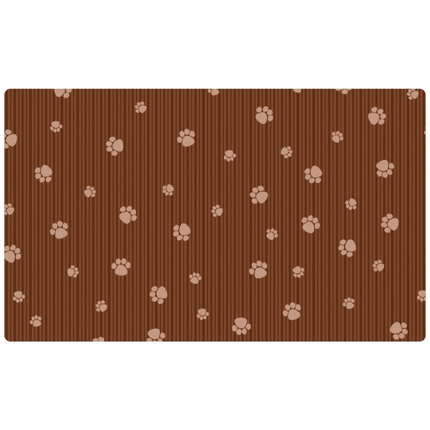 DryMate Cat Bowl Placemat Paws & Stripes (30 x 50cm) - Cat