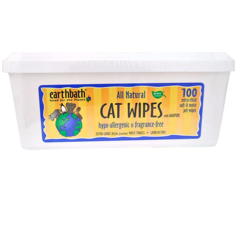 earthbath Hypo-Allergenic Cat Wipes with Awapuhi - Cat