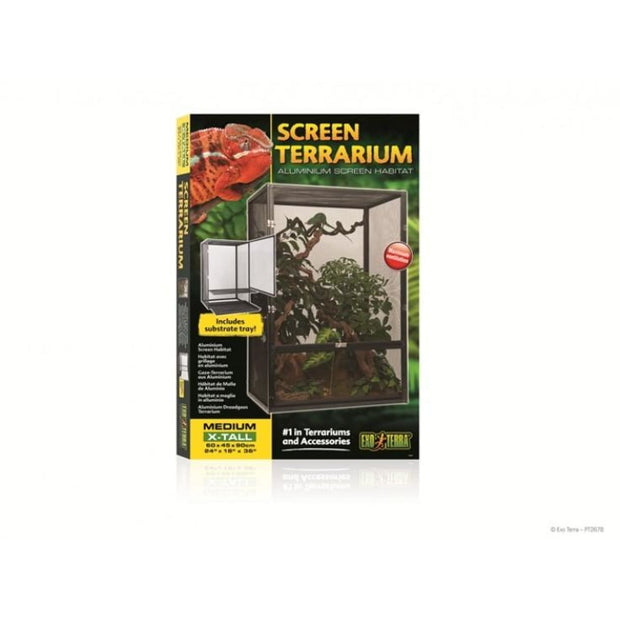 Exo Terra Screen Terrarium - Medium - Reptile Homes