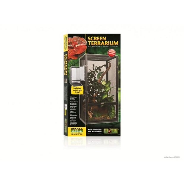 Exo Terra Screen Terrarium - Small/X-Tall - Reptile Homes