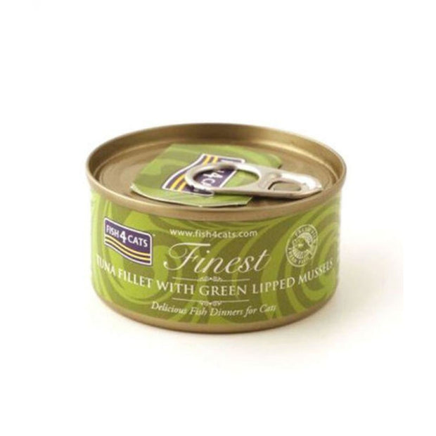 Fish4Cats Finest Tuna Fillet with Green-Lipped Mussel (70g