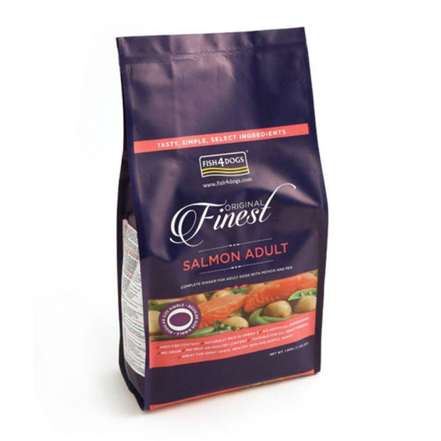 Fish4Dogs Finest Salmon (Regular 2cm Kibble) - 1.5kg - Dog
