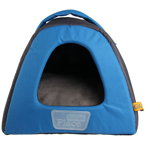 GiGwi Place Canvas Pet House - Blue - Cat Beds