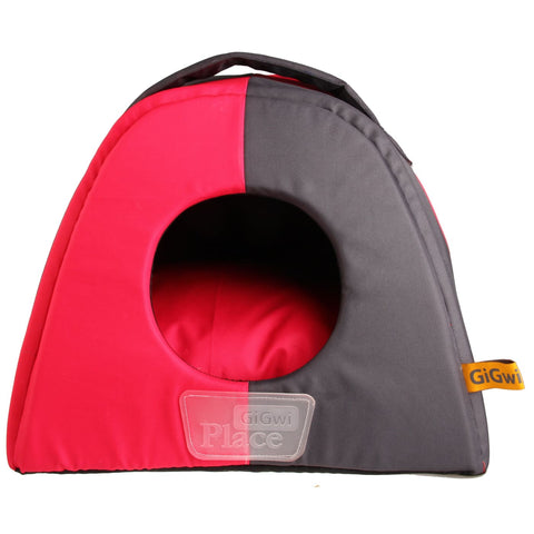 GiGwi Place Canvas Pet House - Pink & Grey - Cat Beds