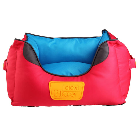 GiGwi Place Soft Canvas Bed - Red & Blue - Dog Beds