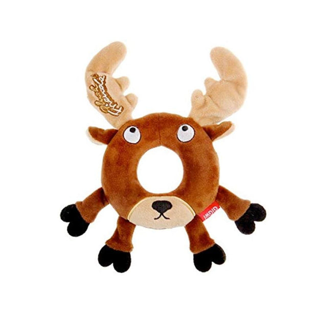 GiGwi Plush Friendz Deer with Foam Rubber Ring and Squeaker