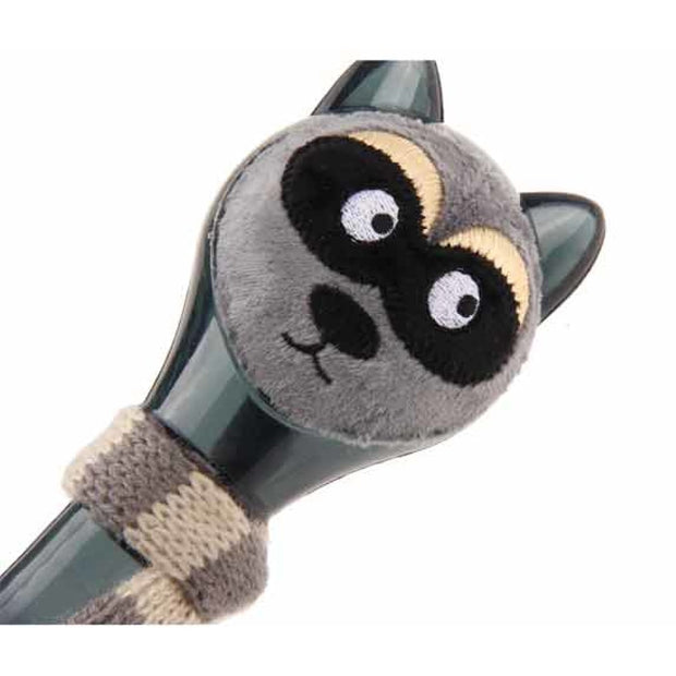 GiGwi Plush Friendz Racoon with Knitting Scarf - Dog Toys