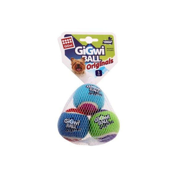 GiGwi Small Tennis Balls (3-pack) - Dog Toys