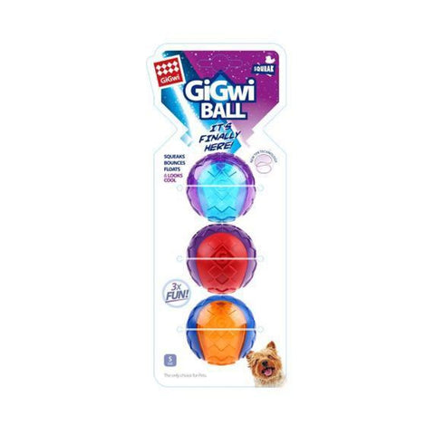 GiGwi Squeaker Ball - Small (3-pack) - Dog Toys