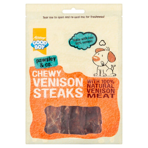 GoodBoy Chewy Venison Steaks - Dog Treats