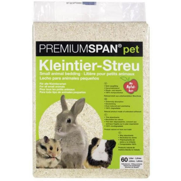 HVT Premium Span Bedding - Apple Scent - 60 Litres - Cages &