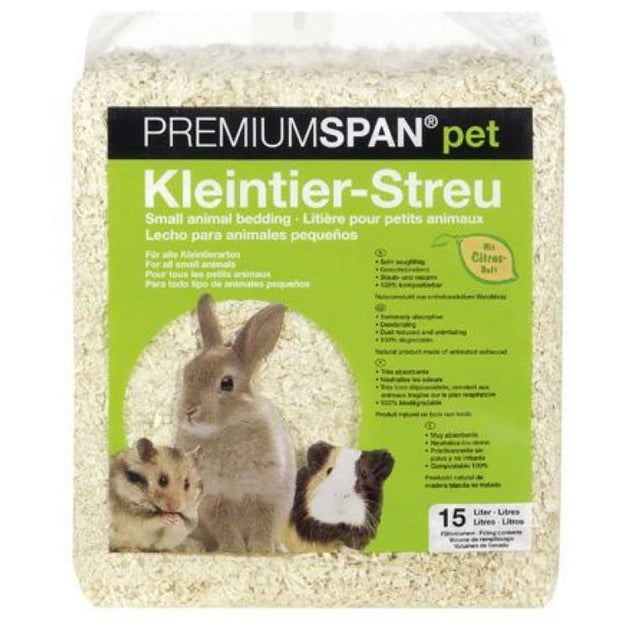 HVT PremiumSpan Bedding - Lemon Scent - 15 Litres - Cages &
