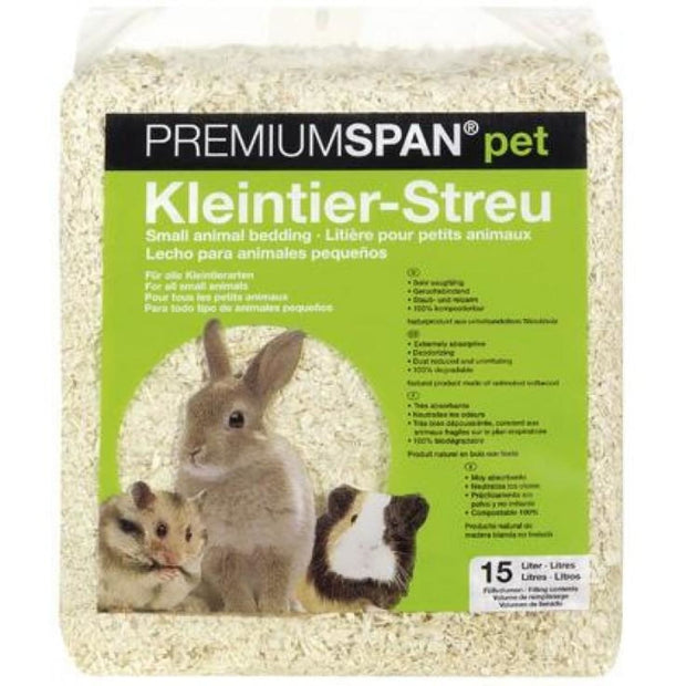 HVT PremiumSpan Bedding - Natural - 15 Litres - Cages &