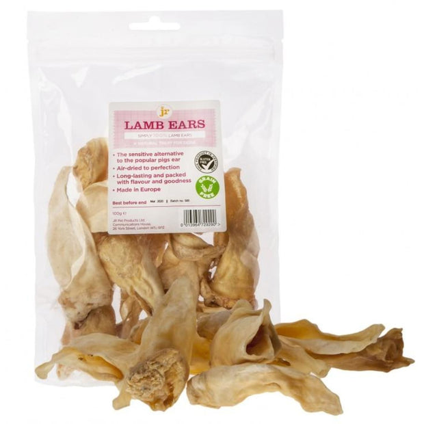 JR Pet Lamb Ears 100g - Dog Treats