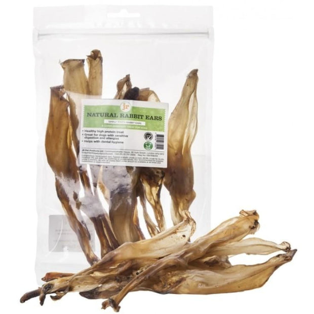 JR Pet Natural Rabbit Ears 100g - Dog Treats
