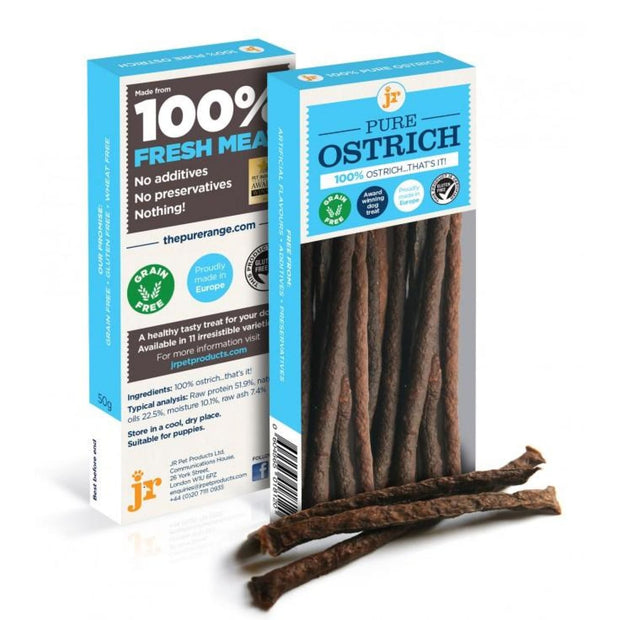 JR Pet Pure Ostrich Sticks - Dog Treats