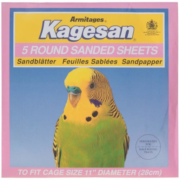 Kagesan Round Sand Sheets - Pink (28cm) - Bird Cages & Homes