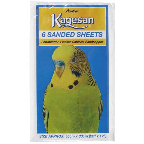 Kagesan Sand Sheet (55x30cm) - White - Bird Cages & Homes