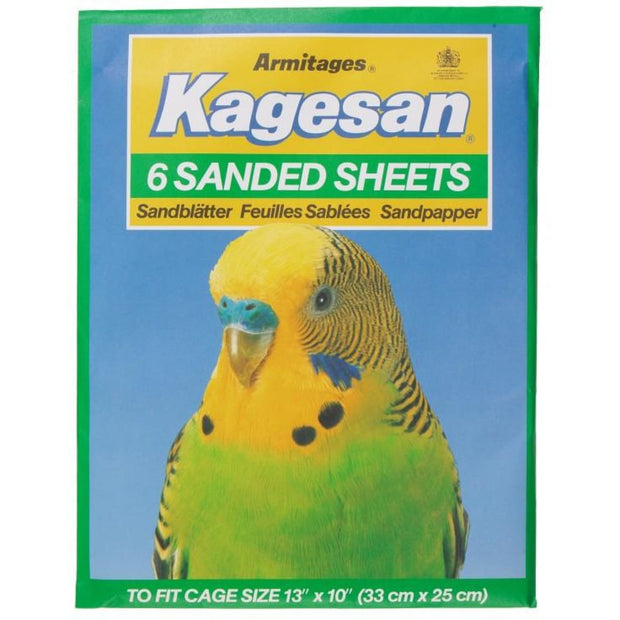 Kagesan Sand Sheets (33x25cm) - Green - Bird Cages & Homes