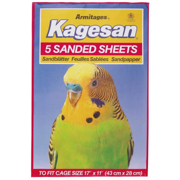 Kagesan Sand Sheets (43x28cm) - Red - Bird Cages & Homes
