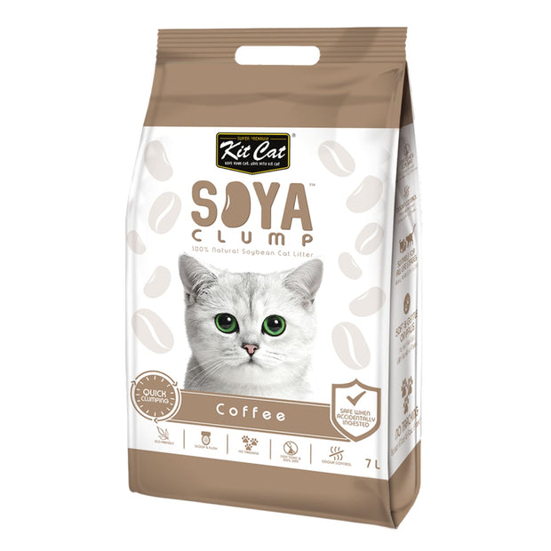 Kit Cat Soya Clump Soybean Litter – Coffee 7L - Cat Litter