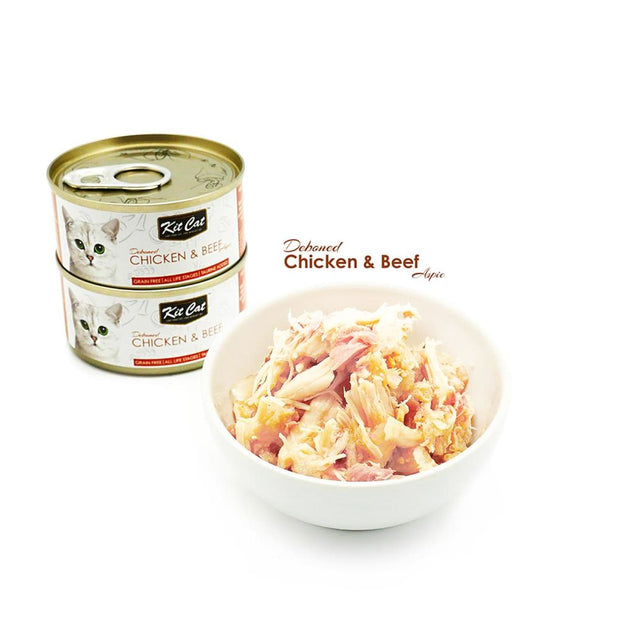 Kit Cat Super Premium Deboned Chicken and Beef (80g) - Cat