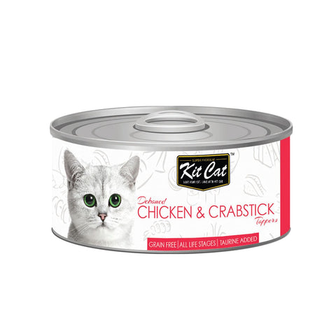 Kit Cat Super Premium Deboned Chicken with Crabsticks (80g)