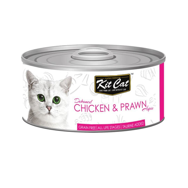 Kit Cat Super Premium Deboned Chicken with Prawn (80g) - Cat