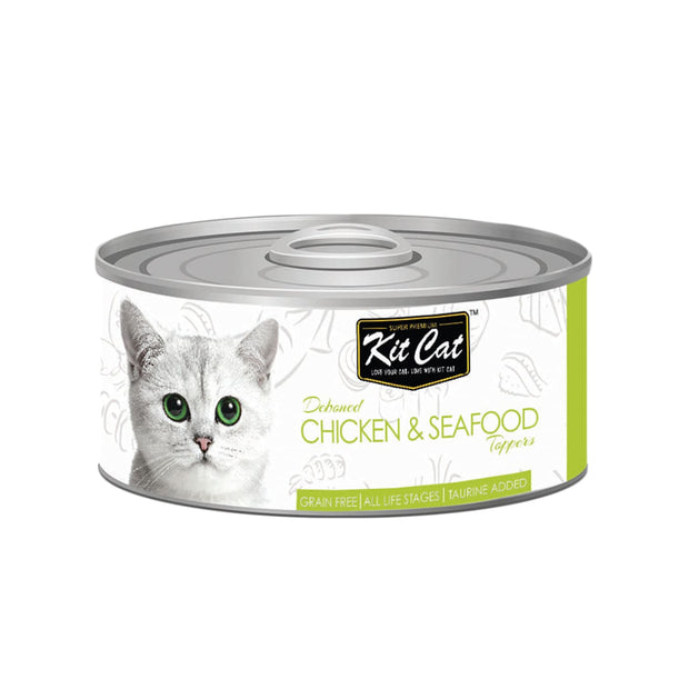 Kit Cat Super Premium Deboned Chicken and Seafood (80g) -