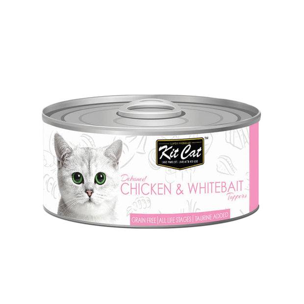 Kit Cat Super Premium Deboned Chicken with Whitebait (80g) -