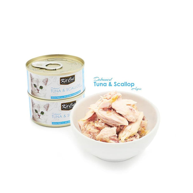 Kit Cat Super Premium Deboned Tuna with Scallops (80g) - Cat