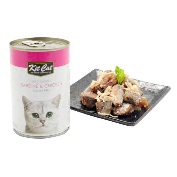 Kit Cat Wild Caught Sardines & Chicken Grain Free Loaf