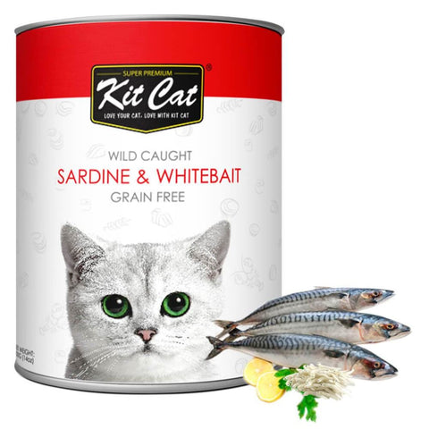 Kit Cat Wild Caught Sardines & Whitebait Grain Free Loaf