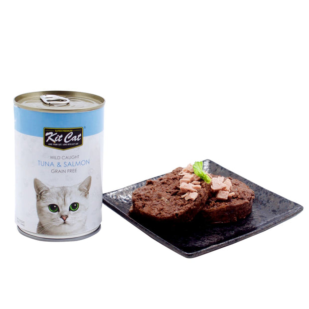 Kit Cat Wild Caught Tuna & Salmon Grain Free Loaf (400g) -