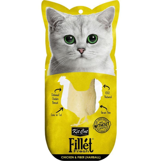 KitCat Gourmet Chicken & Fiber Fillet Fresh (Hairball
