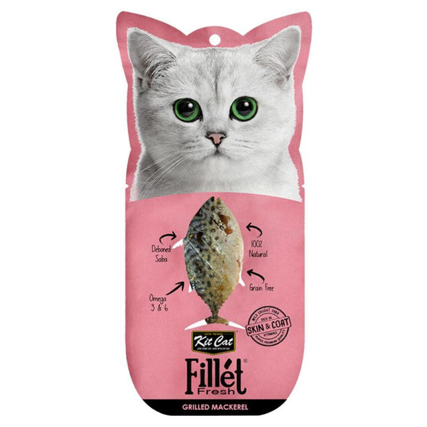 KitCat Gourmet Grilled Mackerel Fillets Fresh - Cat Treats