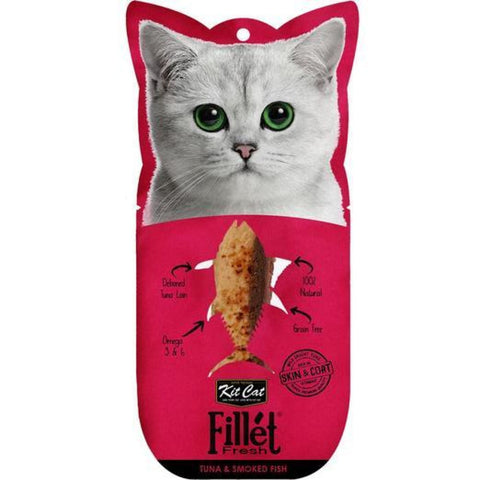 KitCat Gourmet Tuna & Smoked Fish Fillet Fresh - Cat Treats