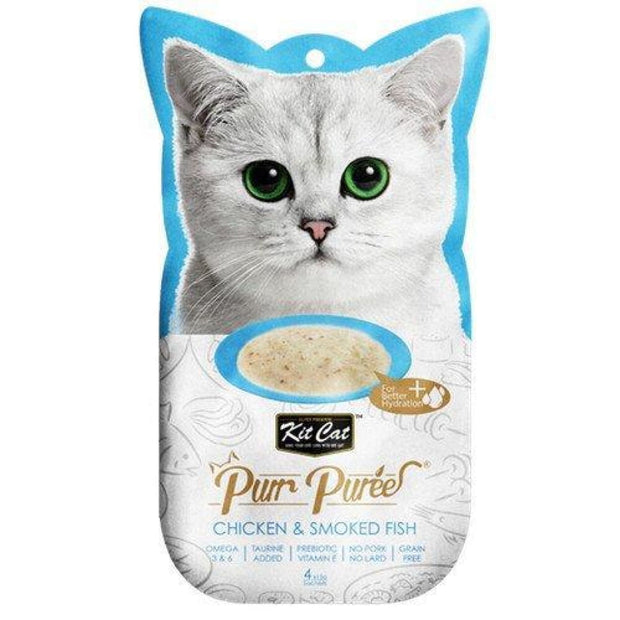 KitCat Purr Puree Chicken & Smoked Fish Puree - Cat Treats
