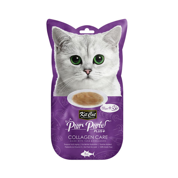 KitCat Purr Puree Plus+ Collagen Care - Tuna - Cat Treats