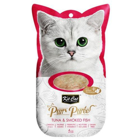 KitCat Purr Puree Tuna & Smoked Fish Puree - Cat Treats