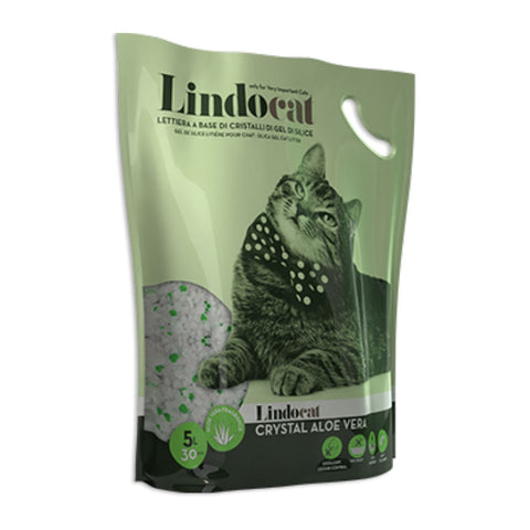 LindoCat SilicaGel Crystal Cat Litter Aloe Vera - Litter &