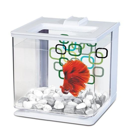 Marina Betta EZ Care Aquarium - White (2.5L) - Aquarium