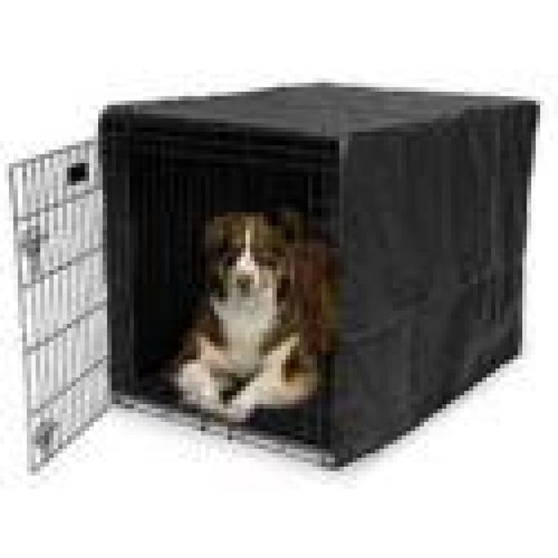 MidWest Quiet Time Black Crate Cover - X-Small - Beds Crates