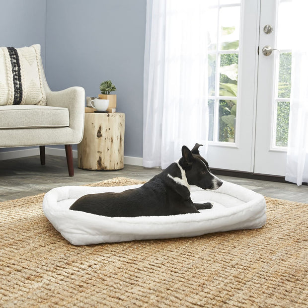 MidWest Quiet Time Deluxe Fleece Bolster Bed - Large - Beds