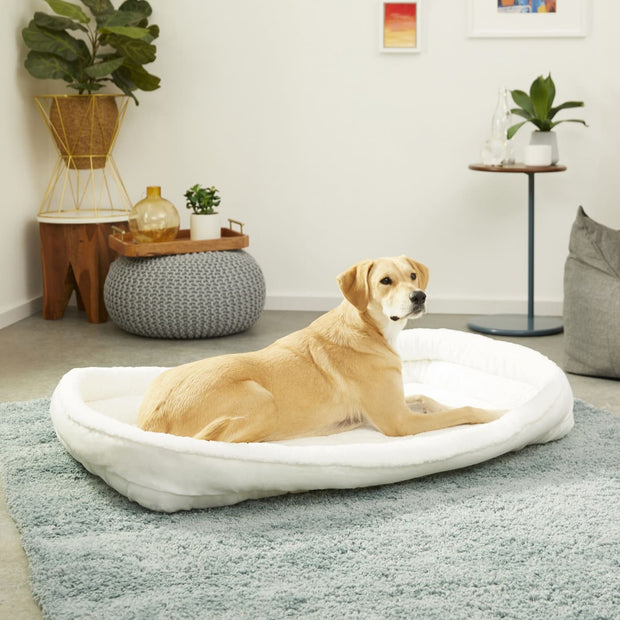 MidWest Quiet Time Deluxe Fleece Bolster Bed - XX-Large -